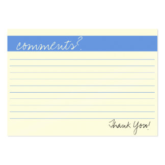 Business Comment Card Large Business Cards (Pack Of 100)