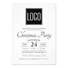 Business Company Logo Party Event Invitation