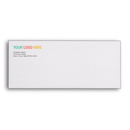 Business company logo return address custom print envelope