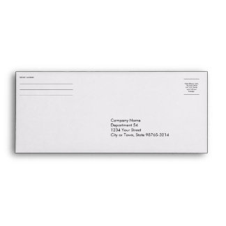 Business company logo return address payment check envelope