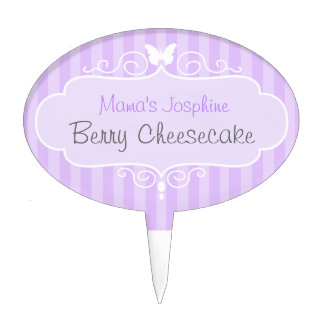 Business / competition purple stripes cake topper