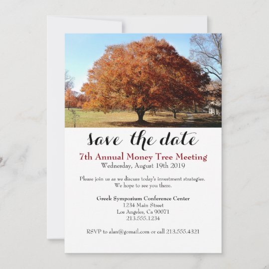 Business Conference Money Tree Event Invitation