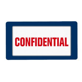 Business CONFIDENTIAL Label (Large)