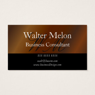 Business Consultant Gold Name Card