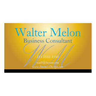 Business Consultant Golden Name Card