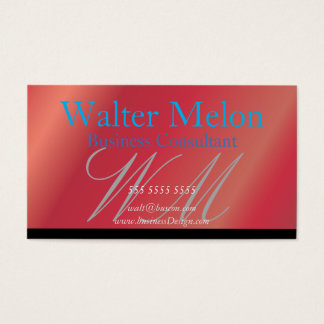 Business Consultant Strawberry Name Card