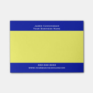 Business Corporate Company Custom Name Simple Post-it® Notes