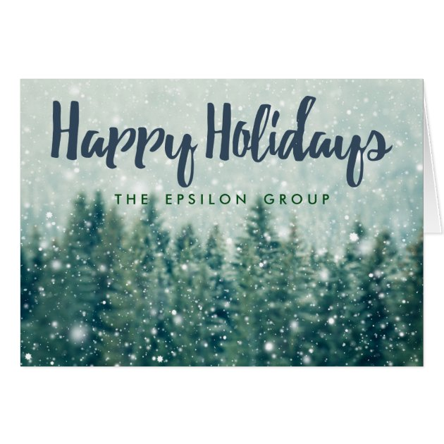 Business corporate winter snow happy holidays card m4hsunfo