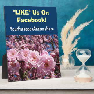 Business Counter Plaques LIKE Us On Facebook