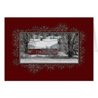 Business Country Barn Christmas Card