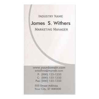 Business Designs Modern Contemporary Business Card