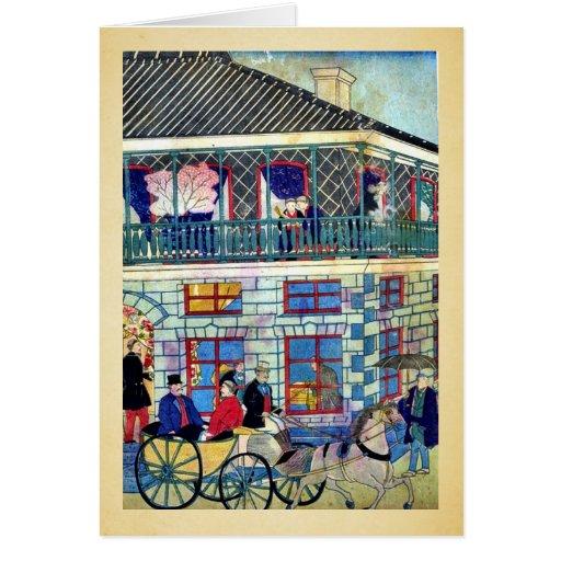 Business district in Yokohama by Utagawa,Hiroshige Card