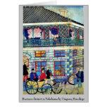 Business district in Yokohama by Utagawa,Hiroshige Greeting Cards