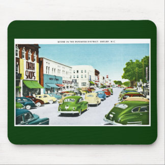 Business District, Shelby, North Carolina Mouse Pad