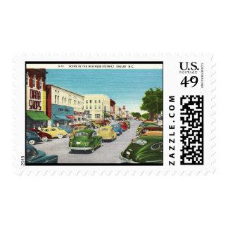 Business District, Shelby, North Carolina Vintage Postage