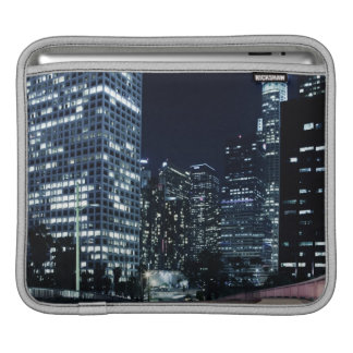 business district with big city lights during iPad sleeve