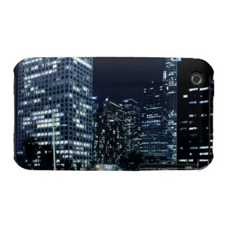 business district with big city lights during iPhone 3 cases