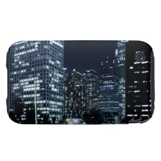 business district with big city lights during tough iPhone 3 case