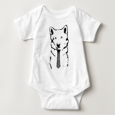 Professional Business Business Dog Means Business Baby Bodysuit
