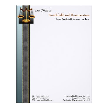 Lawyer Themed Business Elegance Attorney Letterhead