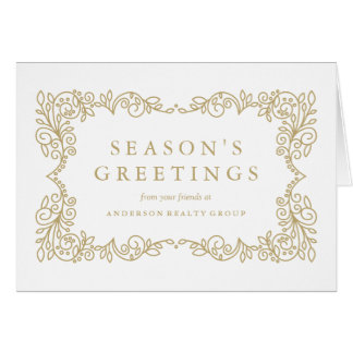 Corporate holiday greeting cards zazzle for Business christmas greeting cards