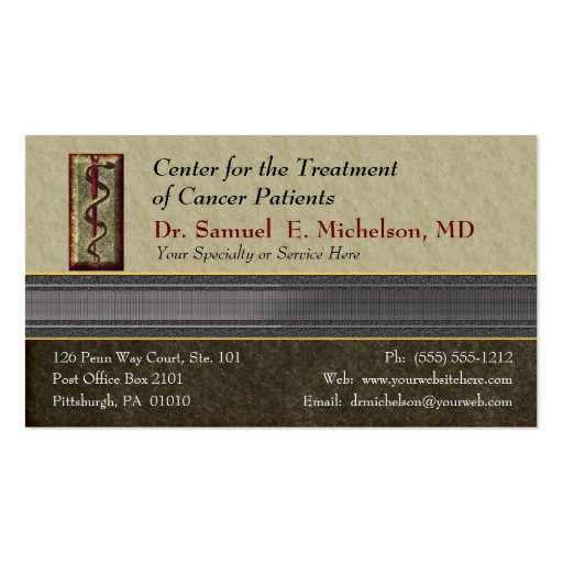 Business elegance physician business card zazzle for Physician business cards