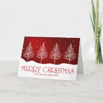 Business Employee Appreciation Christmas Greetings Holiday Card