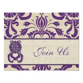 Business Event Invitation Amethyst Swirls Purple T