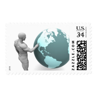 Business Expansion into North America Continent Postage