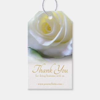 Business Floral Thank You  Gift Tags