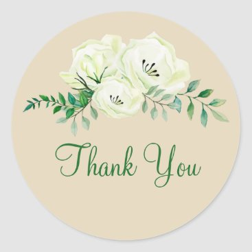 Business Floral Thank You Stickers