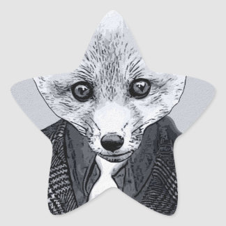 business Fox Star Sticker