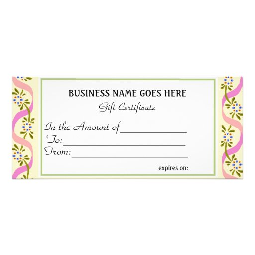 Business gift certificate zazzle for Zazzle gift certificate
