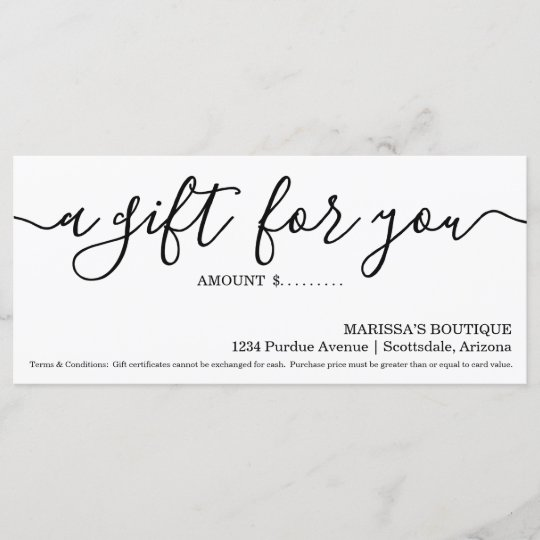 business gift certificate simply right zazzle com