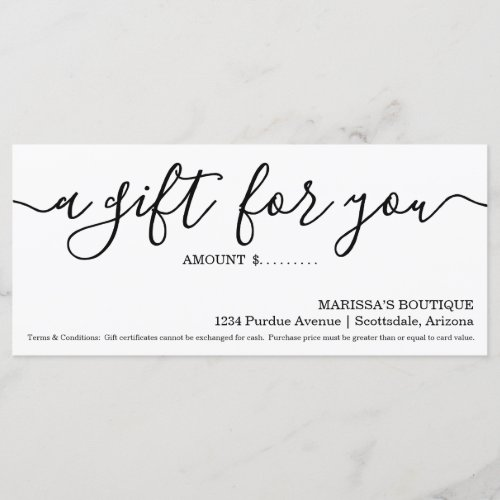 Business Gift Certificate  Simply Right