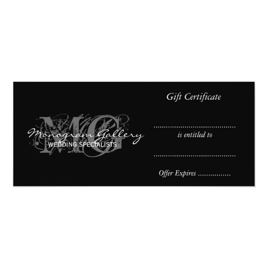 Business Gift Certificate Template With Monogram Zazzle