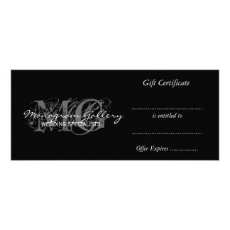 Business Gift Certificate Template with Monogram Announcement