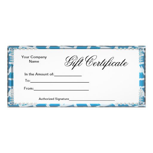 Business Gift Certificates Rack Card Postcard