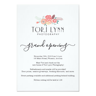 Business Opening Invitations Zazzle