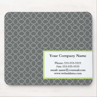 Business Gray & Green Mousepad