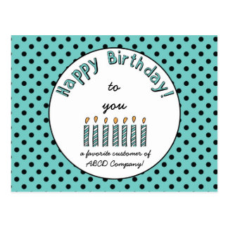 Business Happy Birthday Coupon Postcard