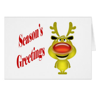 Business holiday greeting funny reindeer greeting cards