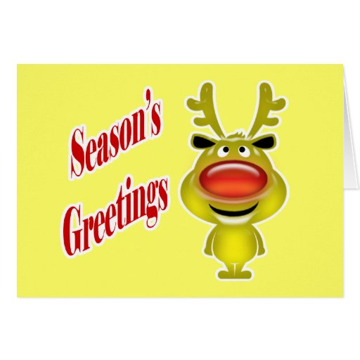 Business holiday greeting funny reindeer yellow card zazzle for Funny reindeer christmas cards