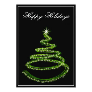 """Business Holiday Greetings 5"""" X 7"""" Invitation Card"""