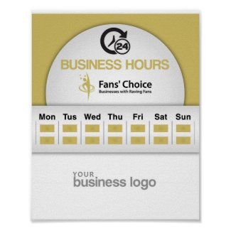 Business Hours Poster Fans' Choice