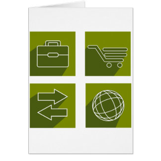 Business icon set card