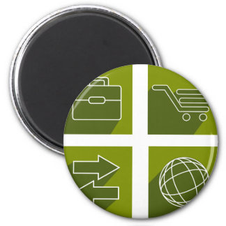 Business icon set magnet