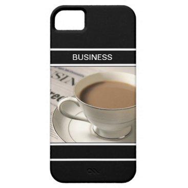 Coffee Themed Business iPhone 5 Cases