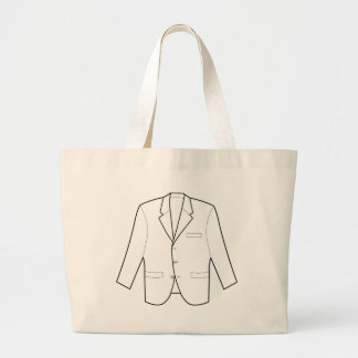 Business Jacket Drawing Large Tote Bag