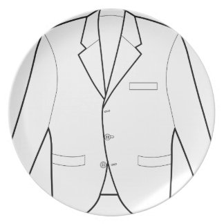 Business Jacket Drawing Dinner Plates